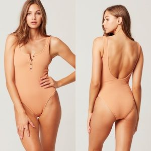 NWT LSpace Float On One Piece Swimsuit Chestnut